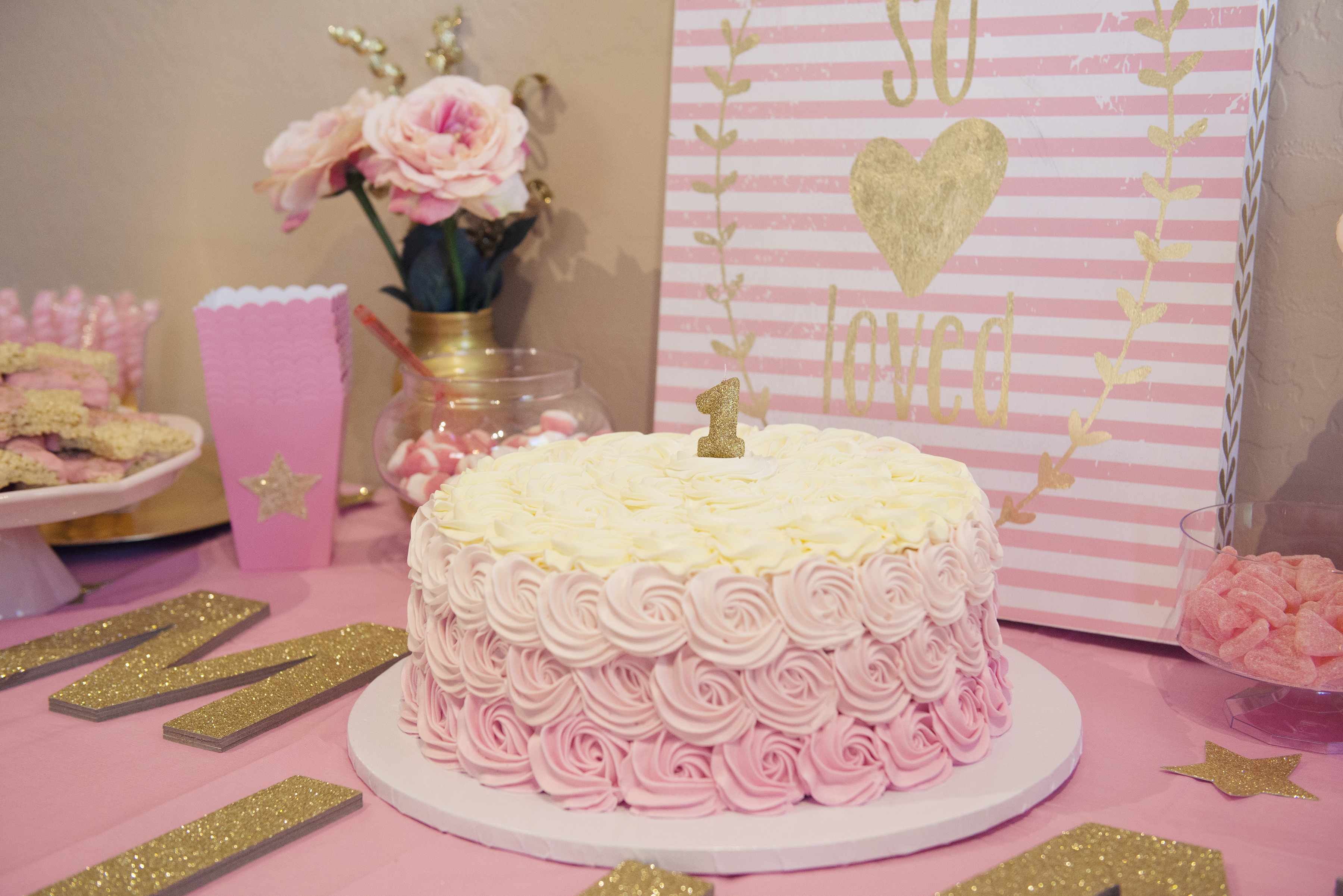 259634bd9 Miss Mila s First Birthday Party! Pink   Gold Twinkle Twinkle Little ...