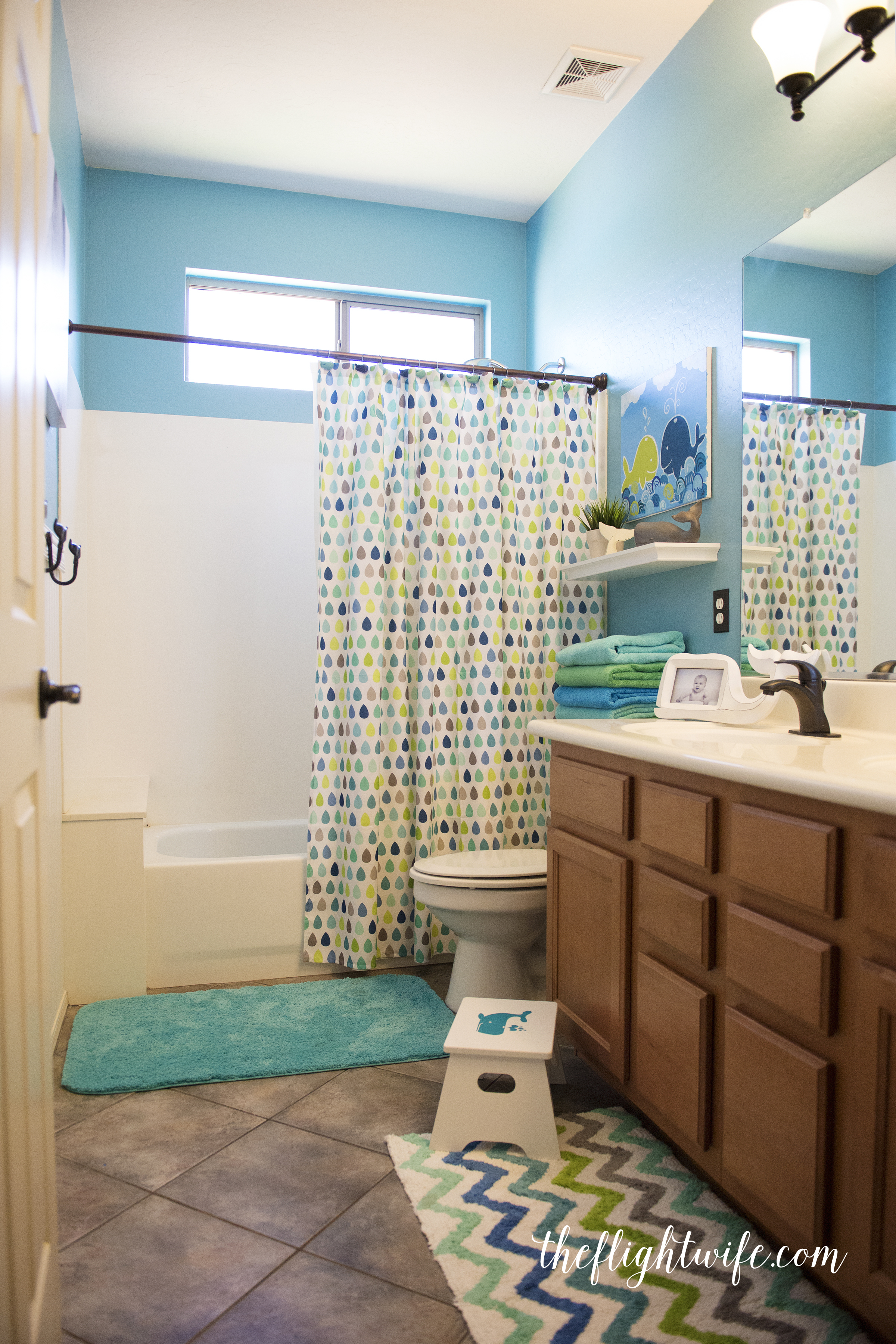 Kids Bathroom Makeover - Fun And Friendly Whales! - The ...