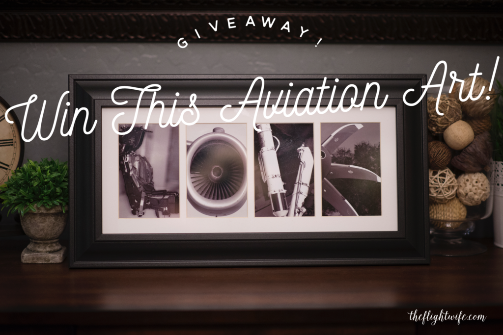 Giveaway! Win This Aviation Letter Art!